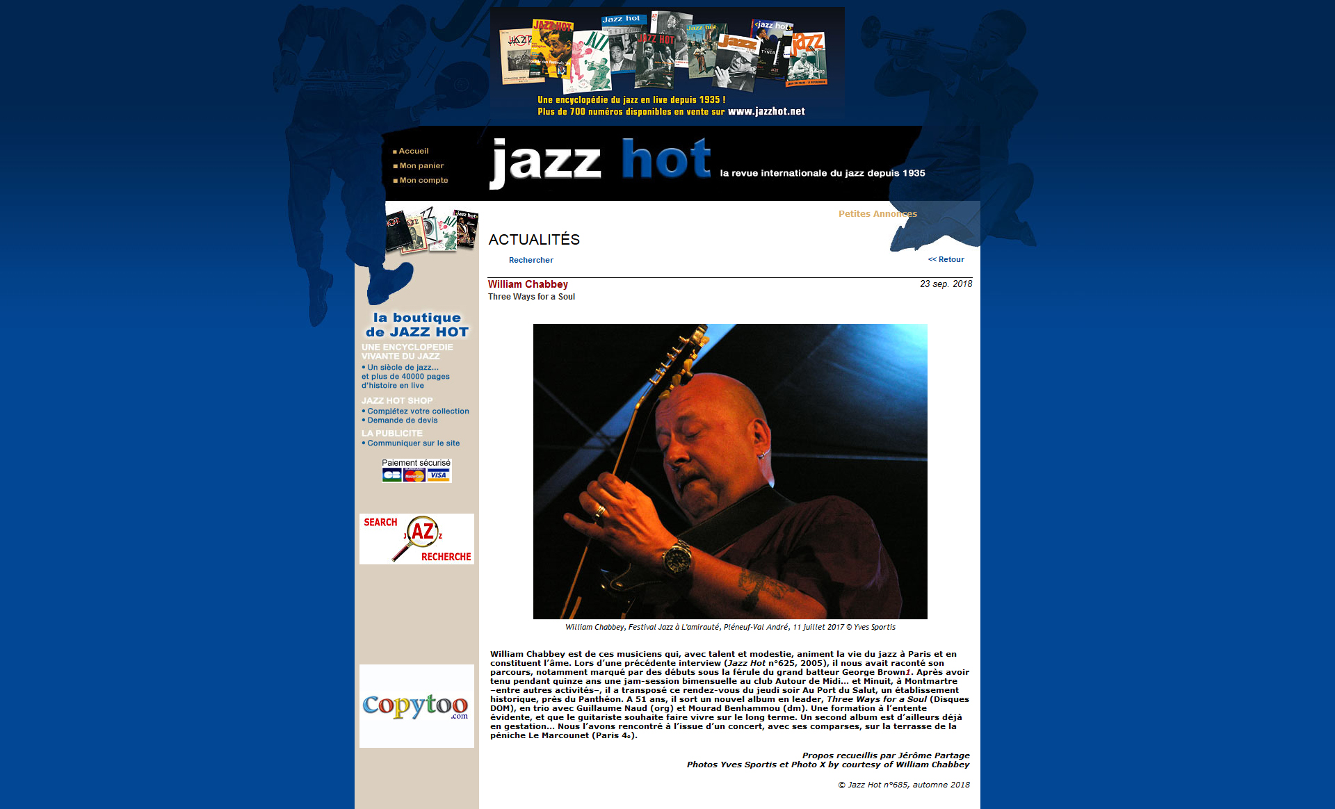 Interview Jazz Hot